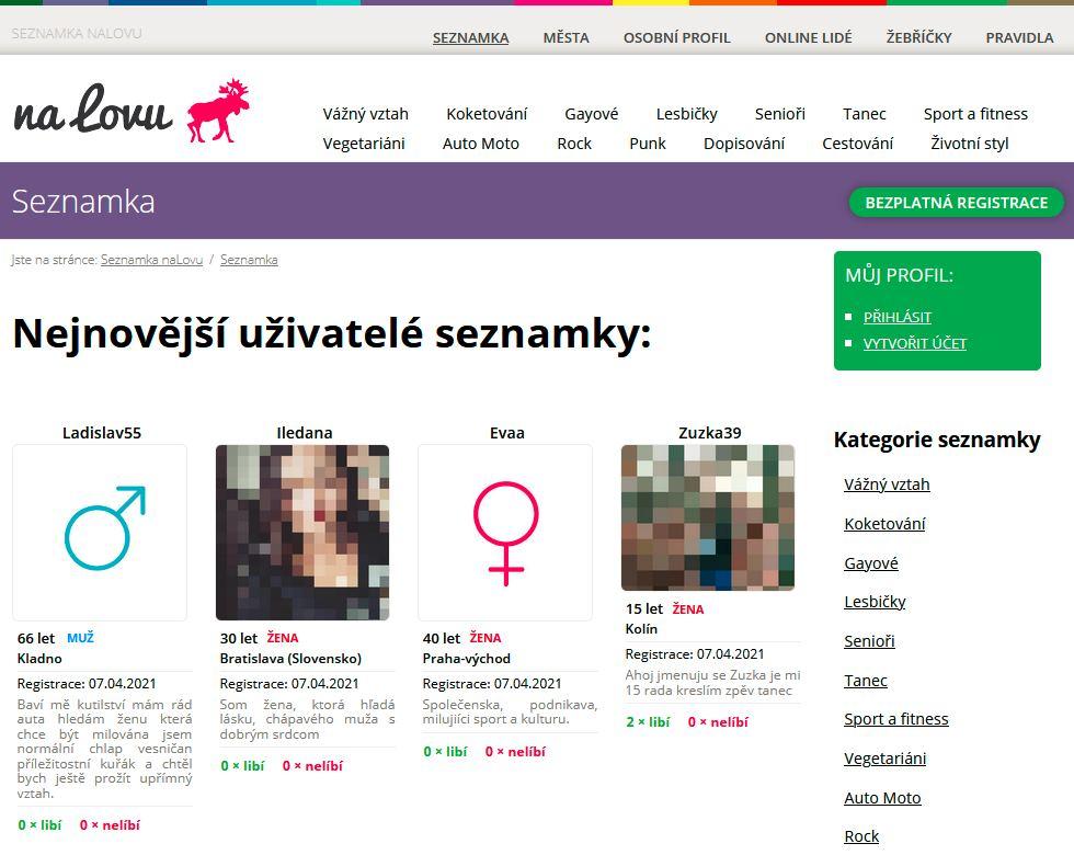 Seznamka nalovu.cz